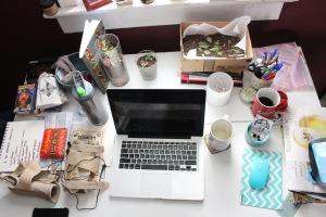 Rachel's desk.